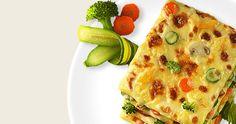 Лазанья с шафраном и овощами
