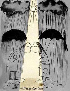 'You're my Sunshine on a Rainy Day', illustration.