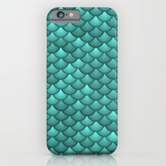 teal scales iPhone & iPod Case