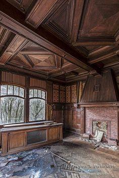 binnenkant Villa Lambin,Villa Kakelbont,urbex huisje,belgië