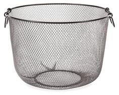 Adirondack mesh basket is equally at home next to your fireplace as it is in the kitchen or entryway. $39.00