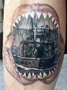 Boat Fishing Tattoo Designs For Men