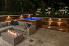 pool and whirlpool spa 8 -garten Outdoor pool and whirlpool spa 8 - Awesome glass space Hot Tub Backyard, Hot Tub Garden, Small Garden Hot Tub Ideas, Patio Ideas With Hot Tub, Garden Ideas, Garden Decking Ideas, Hot Tub Pergola, Small Backyard Pools, Small Pools
