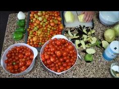 Canning Cherry Tomato Pasta Sauce - YouTube  -I will be using this recipe this year!