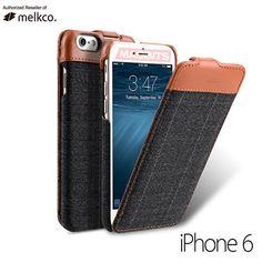 9d957801dfbd Genuine Melkco Leather Flip Case Premium Cover for Apple iPhone 6   6s  Jacka Purple