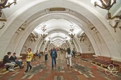 The signs showing the stations that can be reached in a given direction are installed on the stations.[4]  The majority of stations and rail lines are underground. Some lines have surface-level and elevated sections. Filyovskaya Line is notable for its being the only line with most of the tracks at surface level.  en.wikipedia.org/wiki/Moscow_Metro