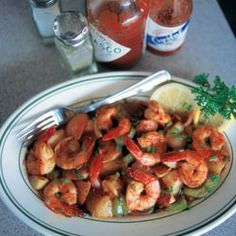 Shrimp Uggie by Saveur. This spicy shrimp dish gets its kick from hot sauce and red pepper flakes.