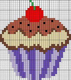 Si te gusta el punto de cruz y quieres decorar un mantel, delantal o trapo de cocina, nuestra amiga de el blog ElTallerdeIre nos deja los patrones para hacer cupcakes con este bordado. ¡Manos a la obra!