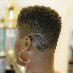 40 TWA Hairstyles That Are Totally Fabulous - Shorter hair - Natural Hair Cuts, Natural Hair Styles, Natural Hair Moisturizer, Shaved Hair Designs, Haircut Designs, Undercut Designs, Queen Hair, Natural Hair Inspiration, Short Hair Cuts