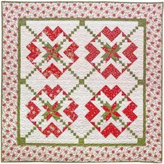 American Quilter's Society - Chains of Hearts Red and Green Quilt Kit - Kits & Patterns