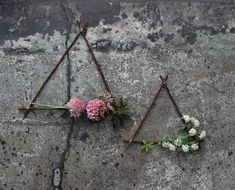 These geometric wreaths are everything we need to start our 2017 gatherings in the right direction. Learn the steps to make this pretty project for a next-level Valentine& gesture. Funky Junk, Breakfast In Bed, Plant Hanger, Diys, Triangle, Projects To Try, Valentines, Wreaths, Pretty