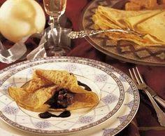 Crepes farcides de mousse de torró amb xocolata