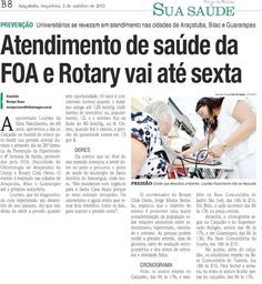 Atendimento de saúde da FOA e Rotary vai até sexta