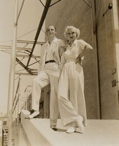 Toby Wing and Jackie Coogan - 1930s fashion - slacks -