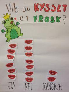 PY 1 Uke Da vi hadde lest eventyret Froskeprinsen laget vi klassegrafen… Teaching, Education, Onderwijs, Learning, Tutorials