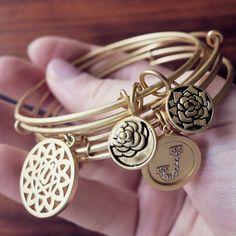 Gold Chrysalis bracelets...Gold Stackable bangles #chakra #positiveenergy