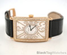 Franck Muller Long Island Large  18k Rose Gold Diamonds  1002 QZ REL D CD 1R 5N #FranckMuller #LuxuryDressStyles