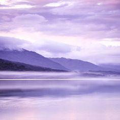 Purple mist over Loch Carron by Lynne Douglas