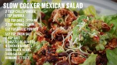 Homemade Tries: Slow Cooker Mexican Salad