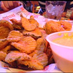 Fried pickles from Hooters!