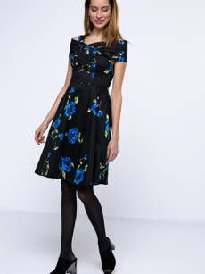Buy Hollow Out Plain Striped Nifty V Neck Skater-dress online with cheap prices and discover fashion Skater Dresses at Fashionmia.com.
