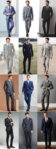 Men's Wedding/Groom Outfit Inspiration Lookbook - Double-Breasted and Three-Piece Suits