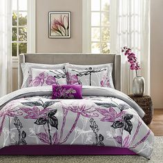 9 Piece Comforter Floral Set King And Queen Bedding Size Bed Traditional New