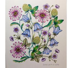 From Maria Trolle's Blomster Mandala  #mariatrolle #blomstermandala #colouringforadults #coulours #divasdasartes #coloriageantistress #coloriage #bayan_boyan #flowers #polychromos #prismacolor #coloringbookaddicts #creativelycoloring #mycreativeescape #majesticcoloring