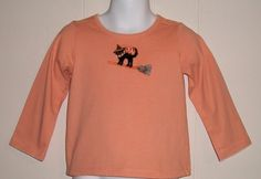 Janie And Jack Halloween Style Girls Orange Cat On A Broom Knit Top 18 24