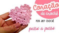 Passo a passo coração de crochê para aplicação super fácil e rápido! Aula completa aqui --> https://www.youtube.com/watch?v=4phsYUPMCJg