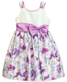 Jayne Copeland Girls' Floral Shantung Dress | macys.com