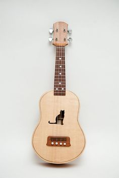 Ukulele customizable sound hole of choice por celentanowoodworks