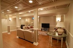 Drop Basement Ceiling With Recessed Lights : Ideas For Finishing A Basement Ceil. Drop Basement Ceiling With Recessed Lights : Ideas For Finishing A Basement Ceil Finish Basement Ceiling, Basement Ceiling Insulation, Basement Ceiling Options, Basement Lighting, Basement Flooring, Ceiling Ideas, Basement Ideas, Basement Ceilings, Basement Finishing