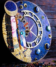 МК Натальи Полех Puzzle Art, Acrylic Painting Techniques, Diy Clock, Decoupage, Diy Home Decor, Diy And Crafts, Watches, Clocks, Glass