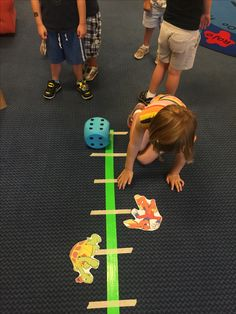 Tortoise and the Hare activity: separate the class into two teams. Then have teams take turns rolling the large dice and moving their Tortoise or Hare to the finish line!