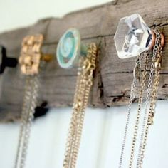 DIY necklace holder! I could put buttons here too!
