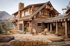 Horská chata ve stylu chalet – Rainbow Point Cabin Log Cabin Living, Log Cabin Homes, Log Cabins, Barn Homes, Mountain Living, Mountain Houses, Future House, Cabins And Cottages, Cabins In The Woods
