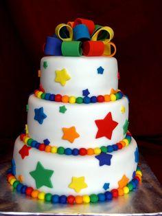 rainbow stars cake