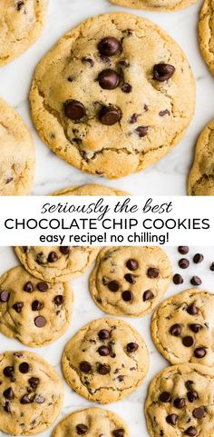 This is the best chocolate chip cookie recipe ever. No funny ingredients no chilling time etc. Just a simple straightforward amazingly delicious doughy yet still fully cooked chocolate chip cookie that turns out perfectly every single time! Easy Chocolate Chip Cookies, Chocolate Cake Recipe Easy, Chocolate Cookie Recipes, Quick Cookies, Chocolate Protein, Chocolate Chip Cookies Recipe With Baking Powder, Chocolate Chocolate, Best Easy Chocolate Chip Cookie Recipe, Easy Cheesecake Recipes