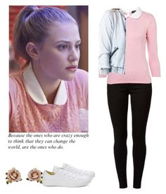 """Betty Cooper - Riverdale"" by shadyannon ❤ liked on Polyvore featuring Dorothy Perkins, Les Néréides, Converse and Charlotte Russe"