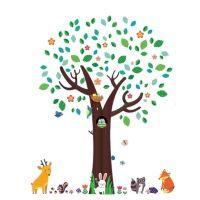 Kidzsupplies | Decowall muursticker boom met dieren | Webwinkel voor baby- en kinderkamer decoratie