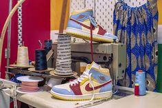Maison Château Rouge x Air Jordan 1 Mid Release Date Jordan Fashions, Jordan Outfits, Retro Sneakers, New Sneakers, Sneakers Fashion, Fashion Shoes, Sneakers Nike, Jordan 1 Mid, Jordan 1 Retro High