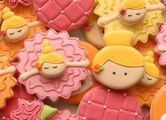 Bowing Ballerina Cookies~     By Sweet Sugar Belle, Yellow, pink, Orange