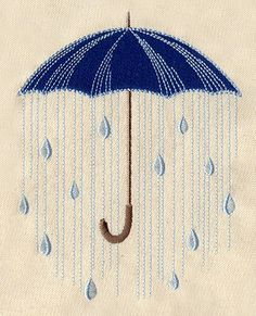 Rainy Day | Urban Threads: Unique and Awesome Embroidery Designs