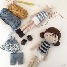 Crochet Kawaii, Diy Crochet Toys, Crochet Dolls Free Patterns, Quick Crochet, Felt Patterns, Crochet Doll Pattern, Amigurumi Patterns, Crochet Baby, Embroidery Patterns