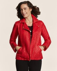 Chico's Quilted Moto Jacket #chicos