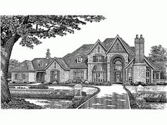 French Country House Plan with 4970 Square Feet and 5 Bedrooms from Dream Home Source | House Plan Code DHSW49303