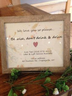 Maybe if there is going to be a designated driver for anyone needed to go to town? I mean I assume most are staying there while drinking but might be a good thing just incase! Cute Wedding Ideas, Wedding Goals, Wedding Tips, Perfect Wedding, Wedding Engagement, Wedding Details, Fall Wedding, Our Wedding, Wedding Planning