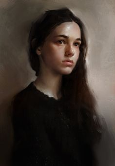 Study Photo Elaine Carlin , Daniel Walsh on ArtStation at https://www.artstation.com/artwork/study-photo-elaine-carlin