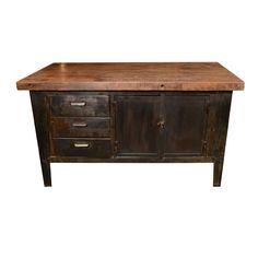 Art De Vivre by Francine gardner: Vintage Low Cabinet with Wood Top